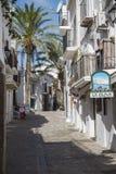 街道在伊维萨岛 库存图片