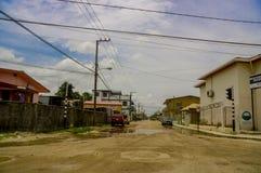 街道在伯利兹市 库存图片