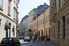 街道在克拉科夫 库存图片