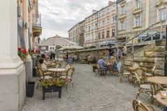 街道在克拉科夫 免版税库存图片
