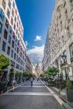 街道在匈牙利 免版税库存照片