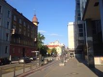 街道在卢布尔雅那,斯洛文尼亚 库存图片