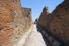 街道在古老庞贝城 免版税库存图片