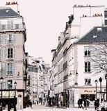 巴黎-街道在圣日耳曼 库存图片