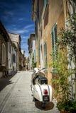 街道在圣特罗佩, CÃ'te d ` Azur,法国 库存图片
