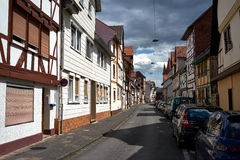 街道在埃施韦格市,德国 库存图片