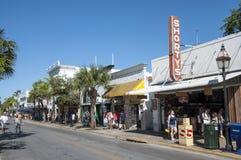 街道在基韦斯特岛 图库摄影