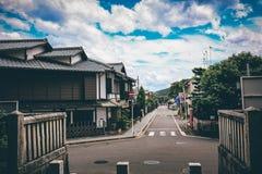 街道在奈良,日本 库存图片