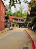 街道在尤里卡斯普林斯,阿肯色 免版税库存照片