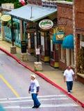 街道在尤里卡斯普林斯,阿肯色 图库摄影