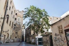 街道在巴勒莫在西西里岛,意大利 免版税库存照片