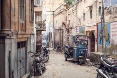 街道在市乔德普尔城,印度 库存照片