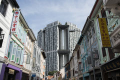 街道在市新加坡 库存图片