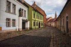 街道在布拉索夫老镇  图库摄影