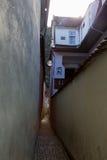 绳索街道在布拉索夫,罗马尼亚 库存照片