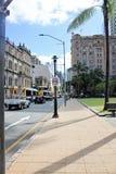 街道在布里斯班,南银行,澳大利亚在晴朗的明亮的天, 9 免版税图库摄影