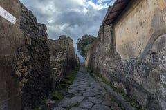 街道在庞贝城,意大利 库存图片