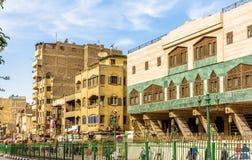 街道在开罗伊斯兰教的区  库存图片
