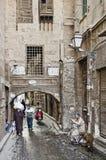 街道在开罗老镇埃及 免版税库存图片