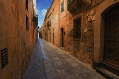 街道在拉巴特马耳他 库存图片