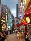 街道在新宿 免版税库存照片