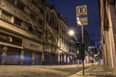 街道在晚上 库存照片