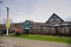 街道在村庄 免版税库存照片
