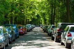 街道在柏林- Grunau有名望的区域  免版税库存照片