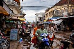 街道在柬埔寨 免版税库存图片