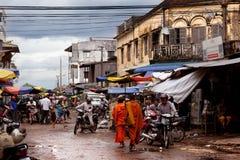 街道在柬埔寨 图库摄影