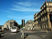 街道在格拉斯哥市,苏格兰 免版税库存图片