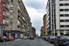 街道在桑坦德,坎塔布里亚西班牙的中心 库存照片