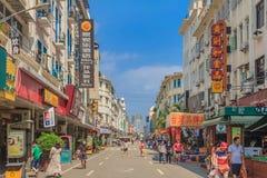 街道在槟榔岛中国 免版税库存照片