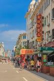 街道在槟榔岛中国 库存图片
