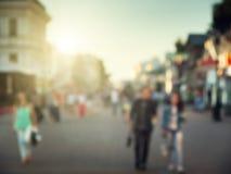 街道在欧洲城市 库存照片