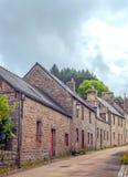街道在法国布里坦尼 免版税库存照片