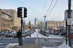 街道在波士顿麻省 库存照片