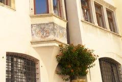 街道在波尔查诺南提洛尔意大利 免版税图库摄影