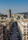 街道在热那亚中心 免版税库存图片