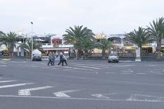 街道在特吉塞, Lanzarotte 免版税库存照片
