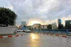 街道在特拉唯夫以色列 免版税图库摄影