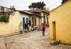 街道在特立尼达,古巴的中心 库存照片