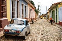 街道在特立尼达,古巴的中心 免版税库存图片