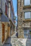 街道在特罗吉尔,克罗地亚 免版税库存照片