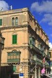 街道在瓦莱塔,马耳他 库存图片