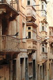 街道在瓦莱塔,马耳他 库存照片