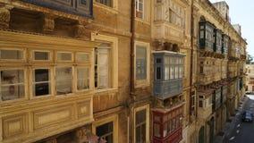 街道在瓦莱塔,马耳他 免版税图库摄影