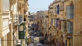 街道在瓦莱塔,马耳他 免版税库存图片