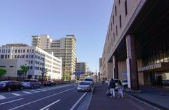街道在秋田,日本 图库摄影