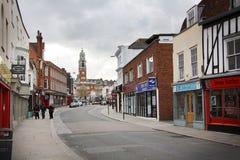 街道在科尔切斯特 免版税图库摄影